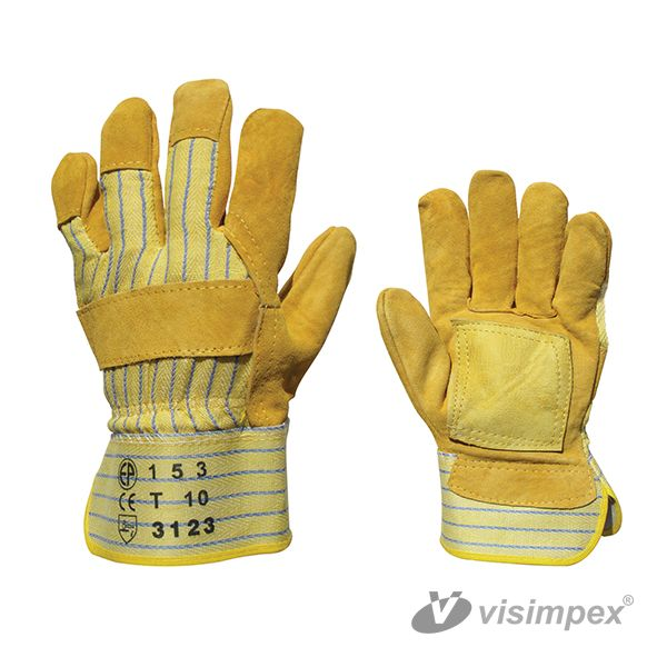 Protective glove with grey ox slit