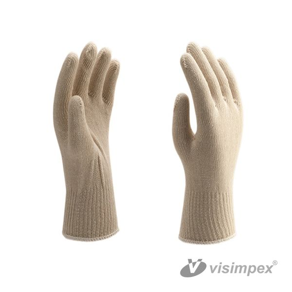 Mixed fibered thread glove