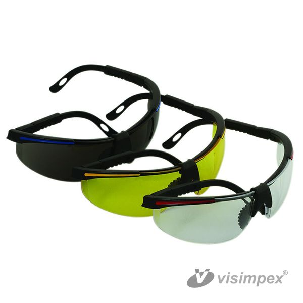 Visitors safety glas, adjustable with elastic band
