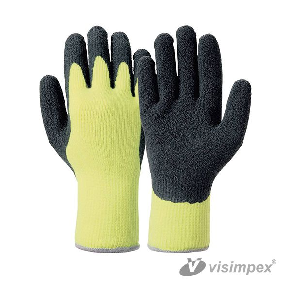 Dipped latex winter glove
