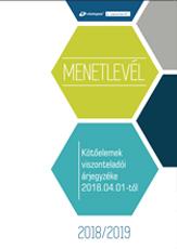 Kötőelem termékkatalógus és árjegyzék - MENETLEVÉL 2018/2019